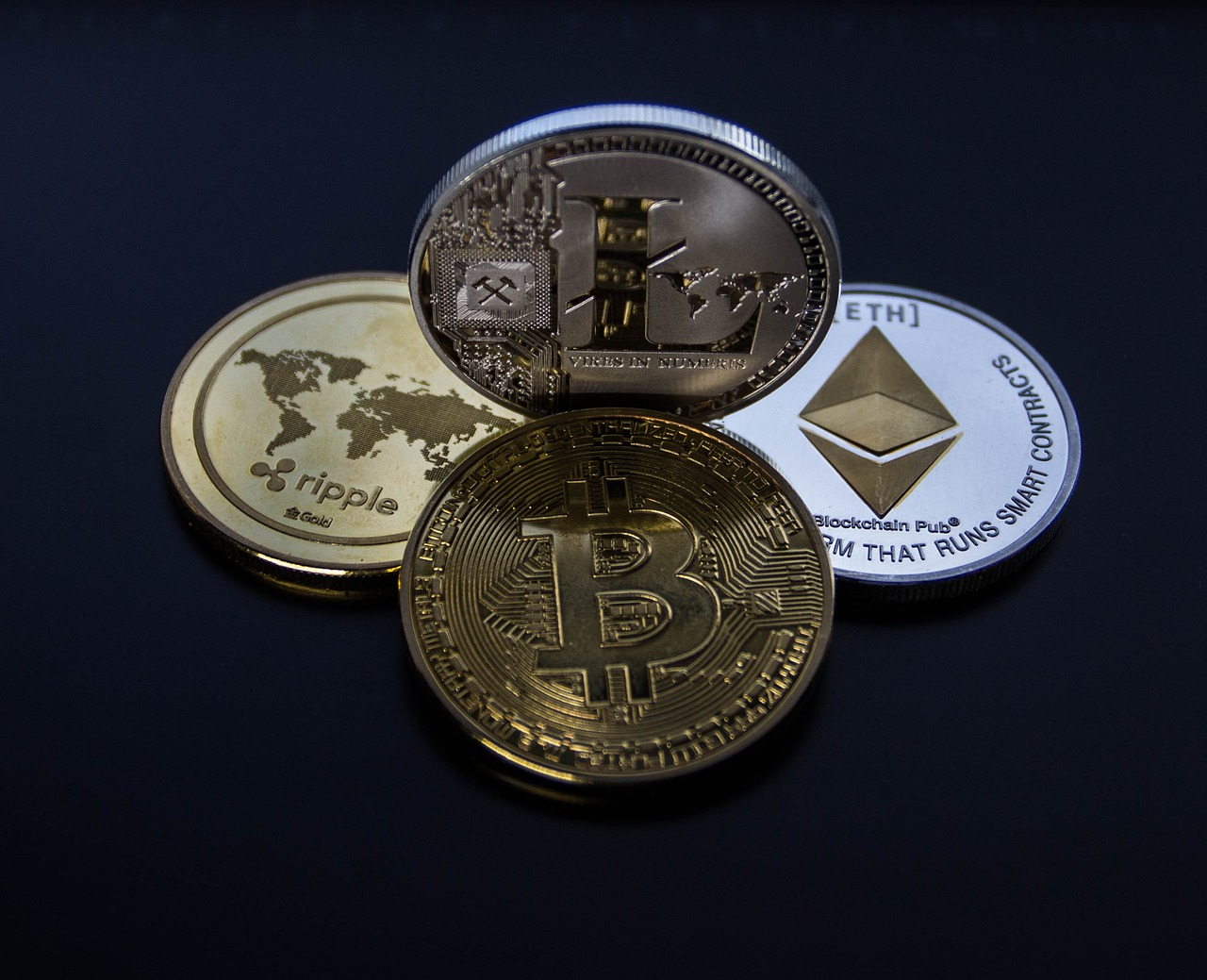 Crypto Currency - Bitcoin - Ethereum - Litecoin - Ripple